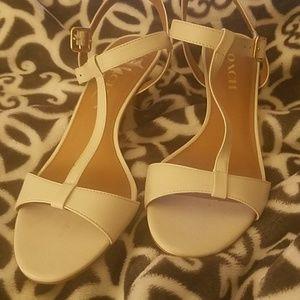 "Coach Chalk starpy 7.5 B 3"" heels"
